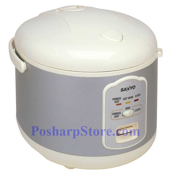sanyo ecj n55w 5 5 cup electronic rice cooker steamer rh posharpstore com