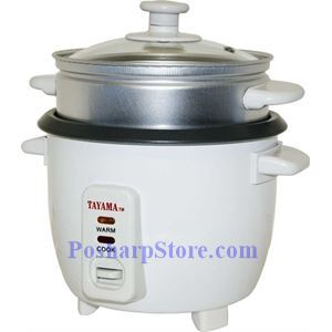Picture of Tayama  TC-03 3-Cup Electric Rice Cooker and Food Steamer