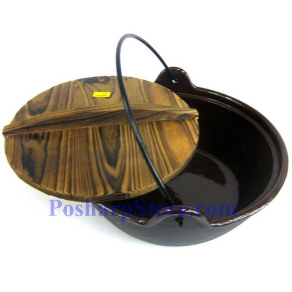 Picture for category Cast Iron Pan  9.5 Inch  w/ Wooden Lid  & Base