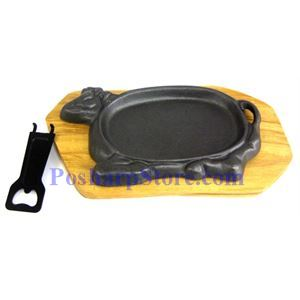 Picture of OX Cast Iron Plate 10 Inch w/ Woodbase
