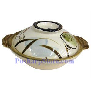 Picture of Khafu Japan 6-Inch Japanese Earthen Casserole Pot