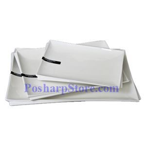Picture of White Rectangle Porcelain Plate PHP-A002-50