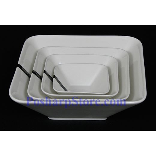 Picture for category White Rhombus Porcelain Bowls PHP-B001