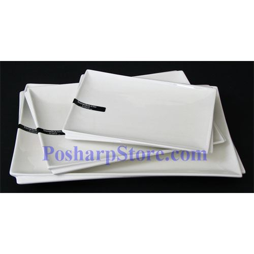 Picture for category White Rectangle Porcelain Plate PHP-A002-50