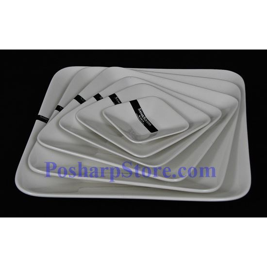 Picture for category White Deep Square Porcelain Plate PHP-A003