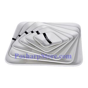Picture of White Deep Square Porcelain Plate PHP-A003
