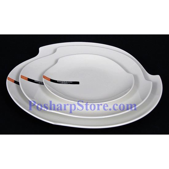 Picture for category White Round Triangle Porcelain Plate PHP-A001-56