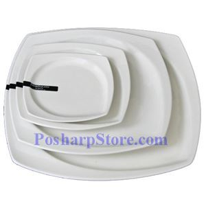 Picture of White Rhombus Porcelain Plate PHP-A001-52