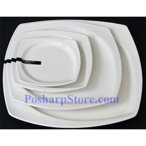 Picture for category White Rhombus Porcelain Plate PHP-A001-52