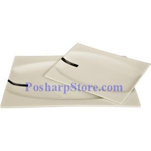 Picture of White Rectangle Porcelain Plate PHP-A003-69