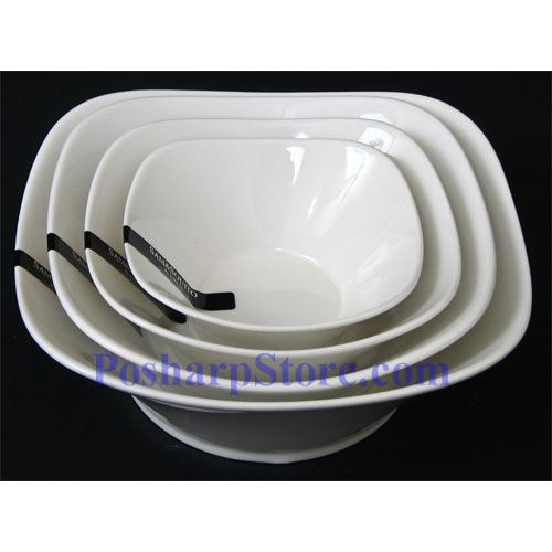 Picture for category White Round Rhombus Porcelain Bowls PHP-B001-35