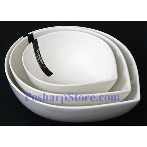 Picture for category White Round Drop Porcelain Bowls PHP-B001-52