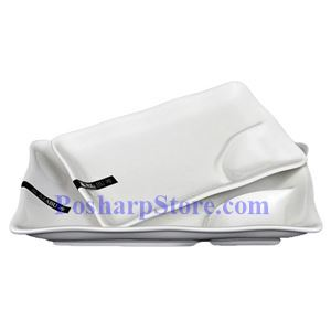 Picture of White Wave Edged Rectangle Porcelain Bowl With Saucer PHP-A0406