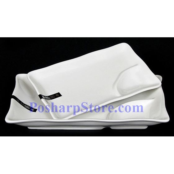 Picture for category White Wave Edged Rectangle Porcelain Bowl With Saucer PHP-A0406