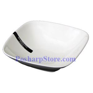 Picture of White Rhombus Porcelain Bowl PHP-B004-38