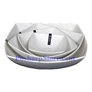 Picture of White Rhombus Porcelain Bowl PHP-A6755