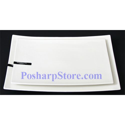 Picture for category White Rectangle Porcelain Plate PHP-A346