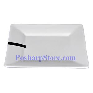 Picture of White Rhombus Porcelain Plate PHP-A0921