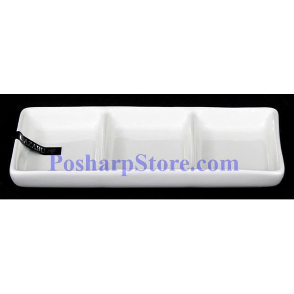 Picture for category White Divided Rectangle Porcelain Saucer PHP-A0227