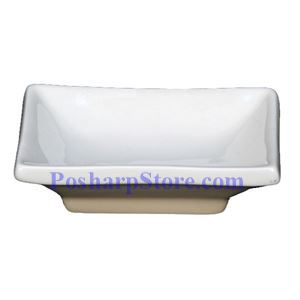 Picture of White Rectangle Porcelain Sauce Plate PHP-D005
