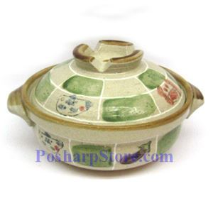 Picture of CD6/F 7 Inch Round Covered Clay Pot/Bowel