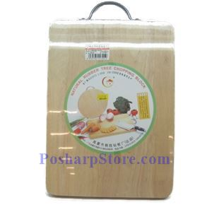Picture of Natural Rubber Tree Chopping Block, Rectangle