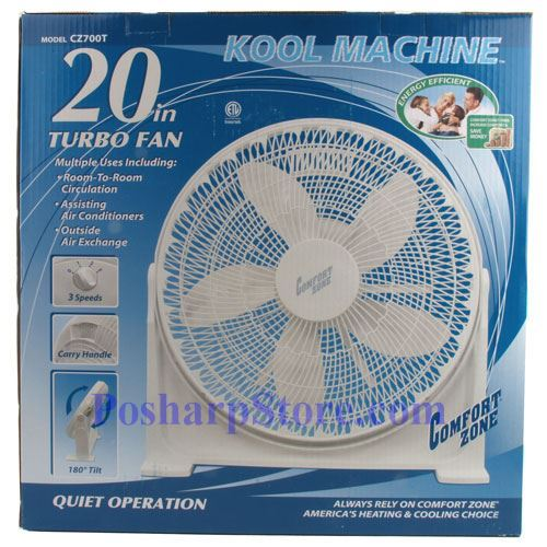 Picture for category Comfort Zone CZ700T 20 Inch High Velocity Floor Fan