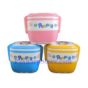 Picture of PeePig Square Shaped Double Stock Lunch Box