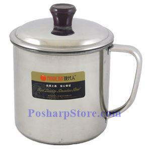 Picture of Modern 4-Inch Stainless Steel Tea Jar