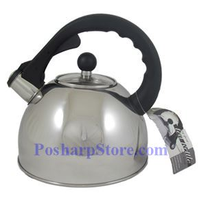 Picture of One-Touch Whistling Spout Tea Kettle With Glass Lid