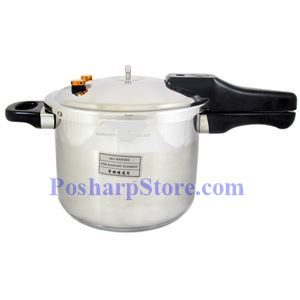 """Picture of Myland 9"""" Multi-Insurance S/S Pressure Cooker with Extra  Glass Lid"""