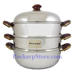 Picture of Myland KSTS0132 12.5-Inch Triple-Tier Stainless Steel Steamer Pot