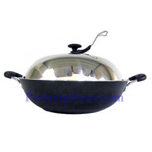 Picture of MND FWK207 15-Inch Raw Iron Casting Non-Stick Frying Pan