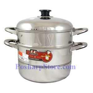 Picture of Zhenneng 28CM Two Tier Multi-functional Stainless Steel Steamer Pot