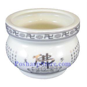 Picture of Chinese Buddhish 4-Inch Ceramic Incense Stick Burner - Light Yellow