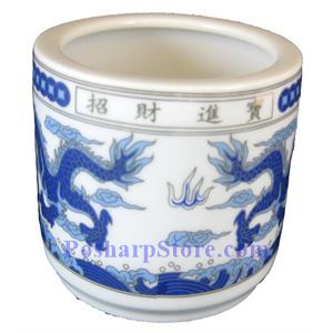Picture of Good Fortune & Feast 4.5-Inch Incense Burning Mug, Blue