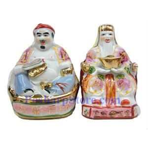 Picture of Vietnamise Ceramic Land Buddha Couple