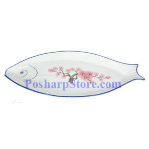 Picture of Plum Blossom 16 Inch Fish Plate