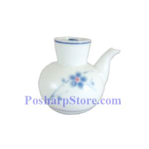 Picture of Cheng's White Jade Porcelain  Blue Plum Soy Sauce Jar