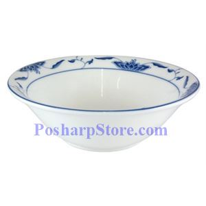 Picture of CAC Durable China Blue Lotus 7-Inch Noodle Bowl