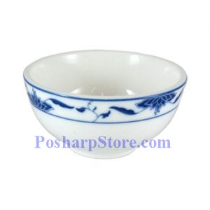 Picture of CAC Durable China Blue Lotus 4-Inch Rice Bowl