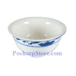Picture of CAC Durable China Blue Lotus 3.75-Inch Rice Bowl