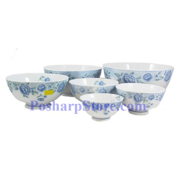 Picture for category Cheng's White Jade Porcelain 4.5-Inch Blue Peony Rice Bowl