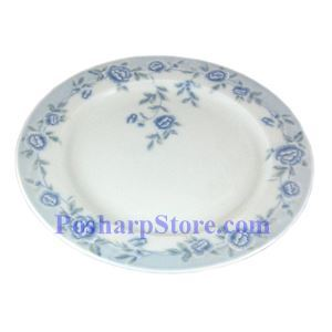 Picture of Cheng's White Jade Porcelain 8-Inch Blue Peony Plate