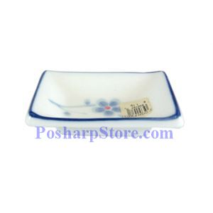 Picture of Cheng's White Jade Porcelain Blue Plum Blossom 3-Inch Square Saucer
