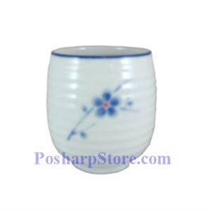 Picture of Cheng's White Jade Porcelain Blue Plum Blossom Waved Teacup