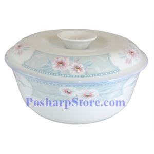Picture of Huangpin Porcelain 5-Inch Spring Blossom Soup Bowl With Lid