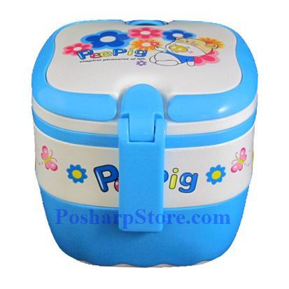 Picture for category PeePig Square Shaped Double Stock Lunch Box