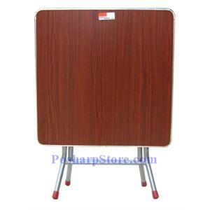 Picture of 17 Inch High Folding Square Table with Metal Edge