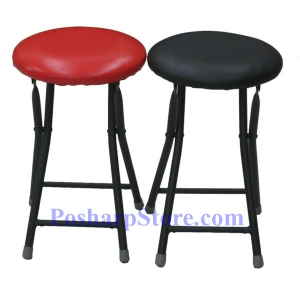 Picture for category Clothe Covered Round Folding Stools with Red Color